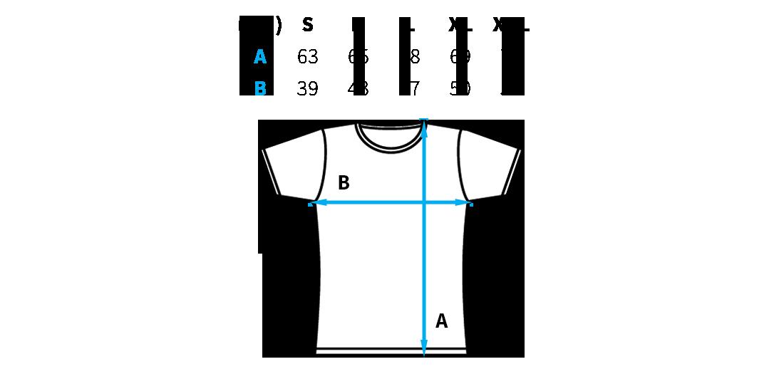 Női póló mérettáblázat